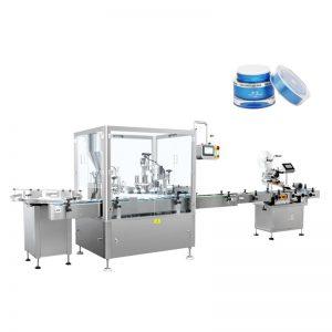 Automatikus testápoló töltő és sapkás gép