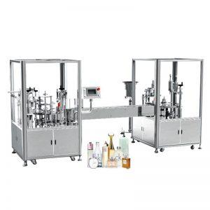 Automatikus parfümkitöltő és sapkás gép